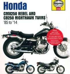 haynes 1985 2014 honda cmx250 rebel cb250 nighthawk twins motorcycle service repair manual [ 1024 x 1311 Pixel ]