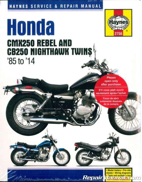 small resolution of haynes 1985 2014 honda cmx250 rebel cb250 nighthawk twins motorcycle service repair manual