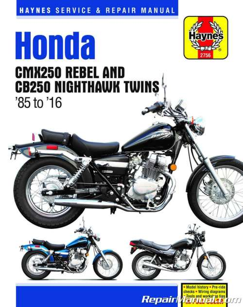 small resolution of haynes 1985 2016 honda cmx250 rebel cb250 nighthawk twinshaynes 1985 2016 honda cmx250 rebel cb250 nighthawk