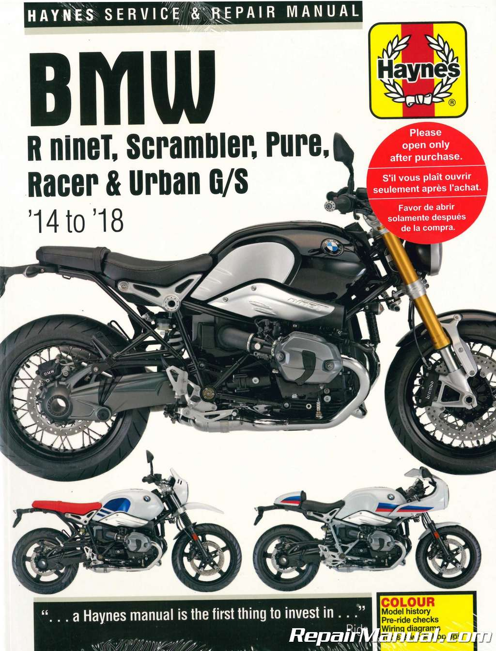 hight resolution of haynes 2014 2018 bmw r ninet motorcycle repair manualhaynes 2014 u2013 2018 bmw r ninet st repair manuals