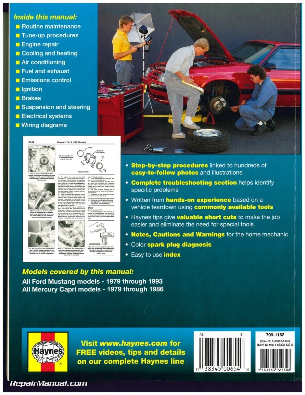 medium resolution of haynes ford mustang 1979 1993 mercury