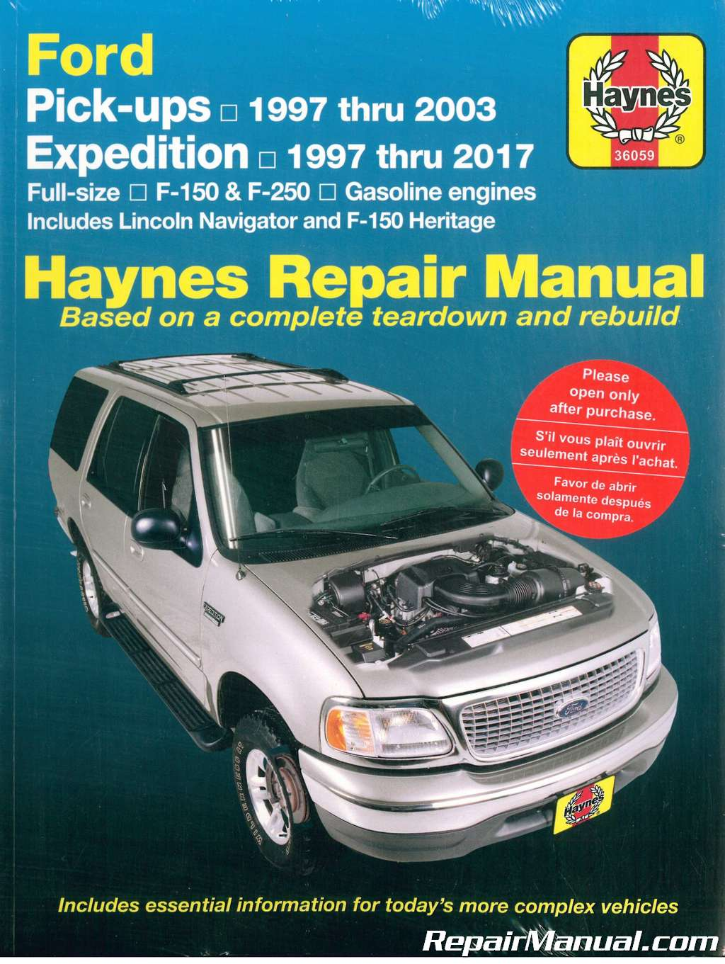 hight resolution of details about haynes ford pickup 1997 2003 expedition 1997 2017 repair manual h36059