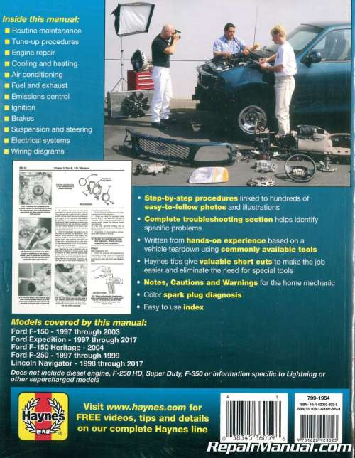 small resolution of haynes ford pickup 1997 2003 expedition 1997 2017 repair manual