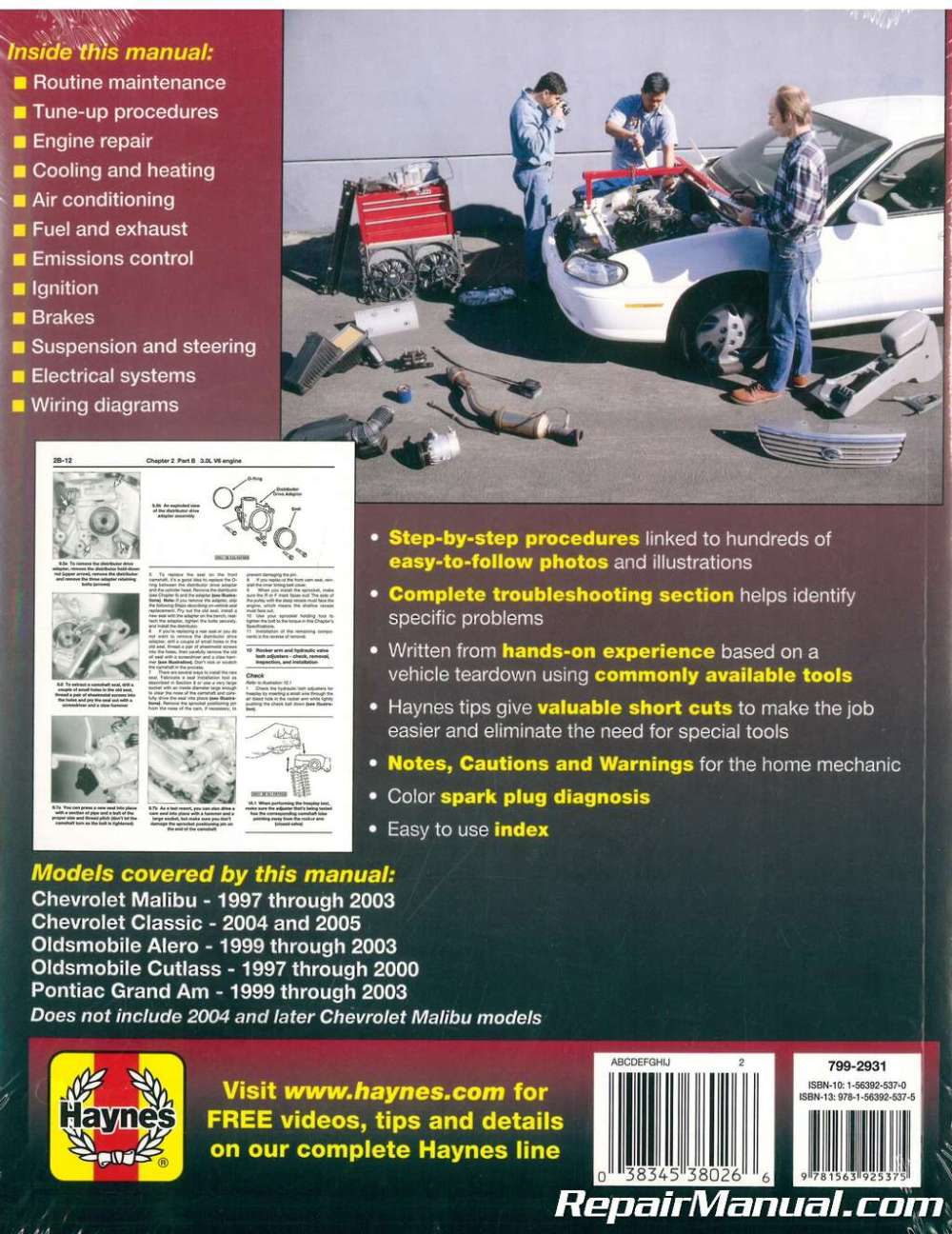 medium resolution of haynes gm chevrolet malibu oldsmobile alero cutlass and pontiac grand am