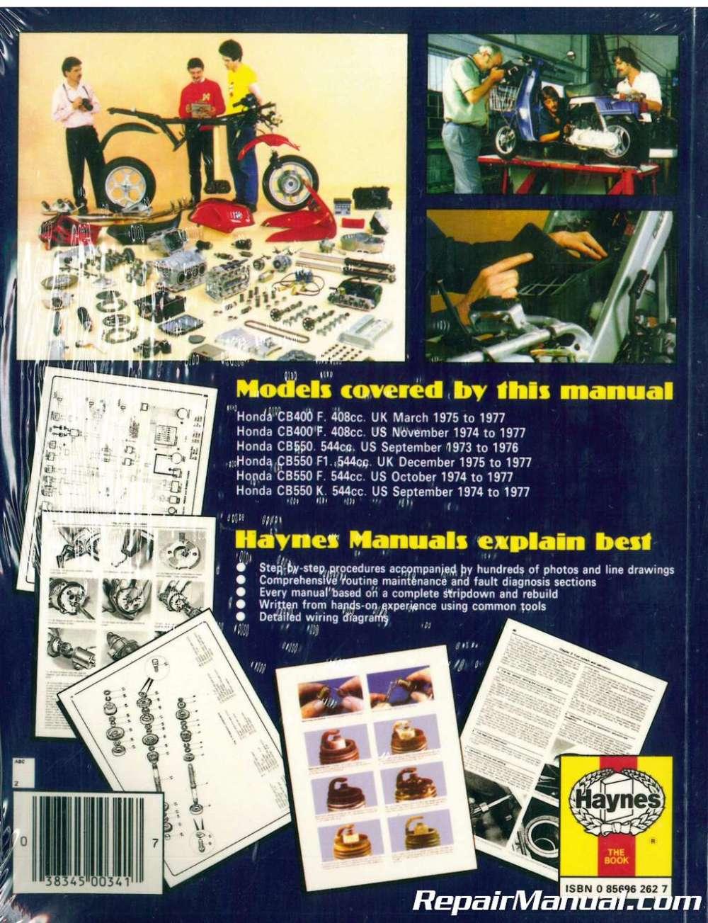 medium resolution of  haynes honda cb400 cb550 1973 1977 motorcycle owners