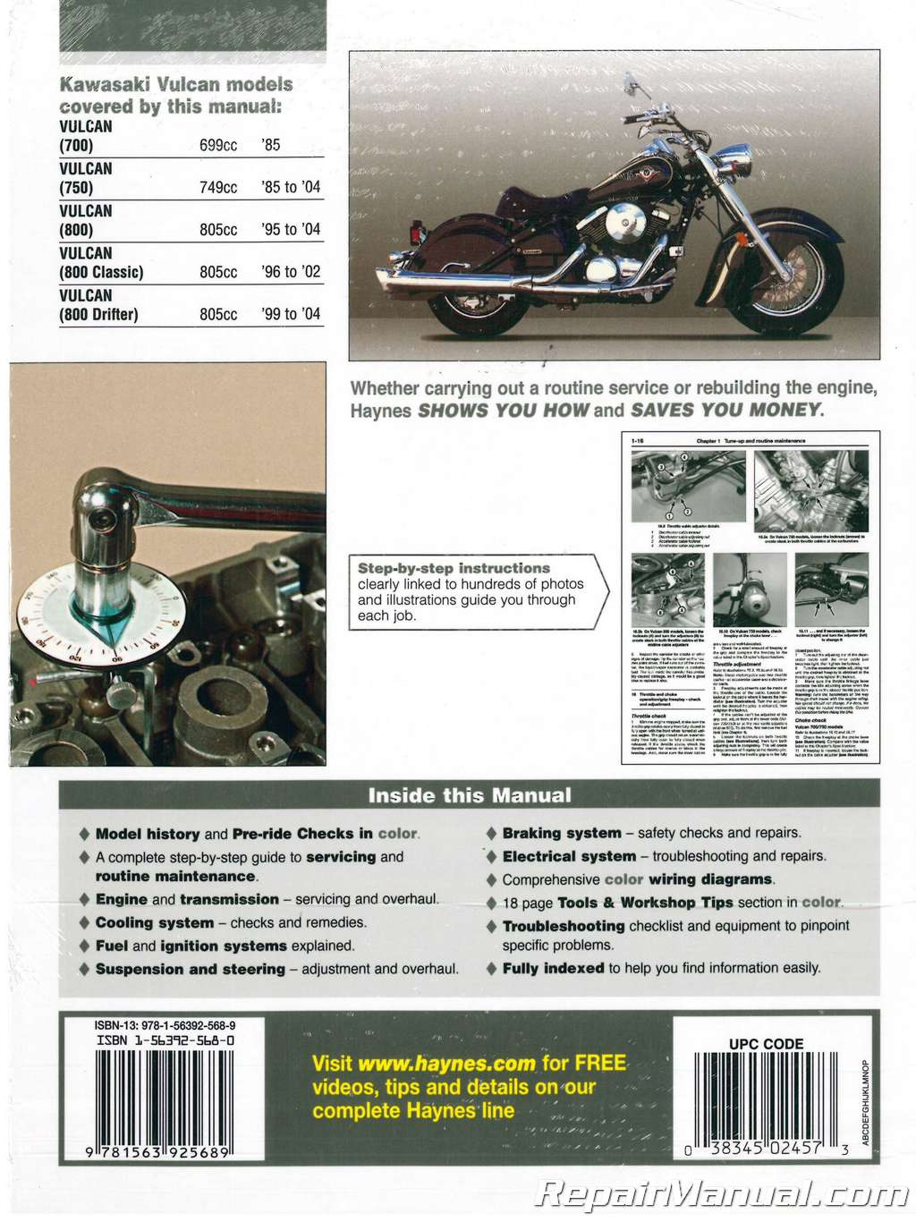 hight resolution of haynes kawasaki vulcan 700 750 800 1985 2004 service manual 1992 kawasaki vulcan 1500 wiring diagram 2001 kawasaki vulcan 800 wiring diagram