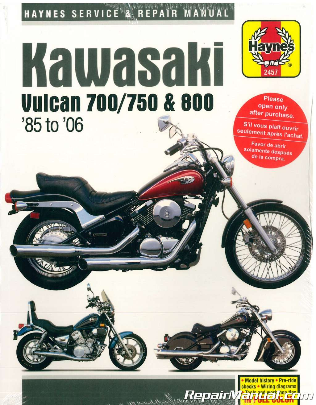 hight resolution of haynes kawasaki vulcan 700 750