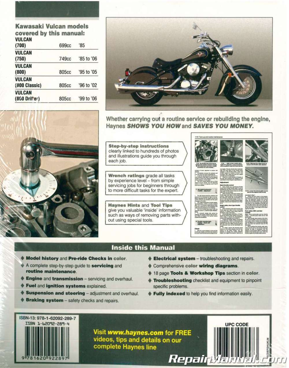 medium resolution of haynes kawasaki vulcan 700 750 800 1985 2006 motorcycle service manual1996 kawasaki vulcan 800 wiring diagram