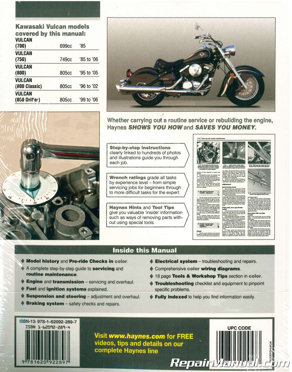 hight resolution of haynes kawasaki vulcan 700 750 800 1985 2006 motorcycle service manual1996 kawasaki vulcan 800 wiring diagram