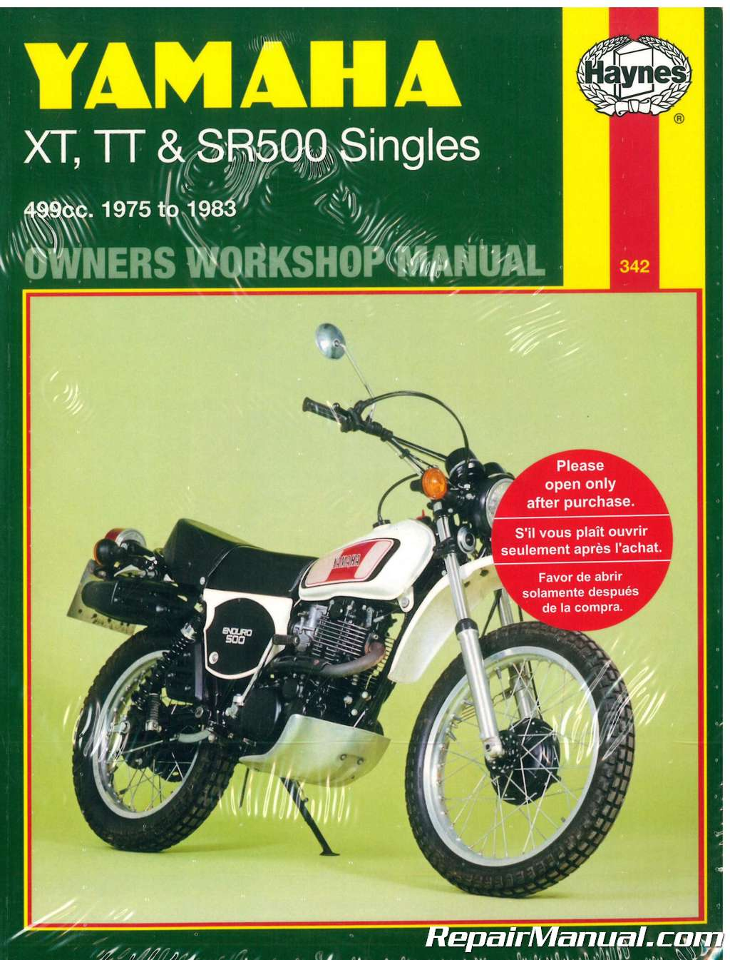 hight resolution of haynes yamaha xt500