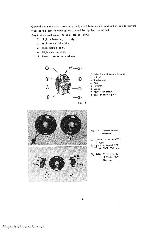 hight resolution of honda 1961 1968 c72 c77 cs72 cs77 cb72 cb77 250cc motorcycle service