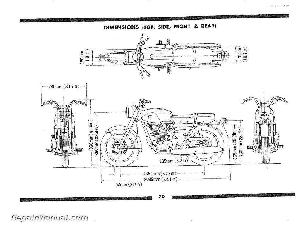Honda 1965-1968 CB450 Super Sport CB450K0 Owners Manual