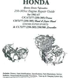 honda 250 305cc dream hawk super hawk motorcycle engine repair  [ 1024 x 1447 Pixel ]