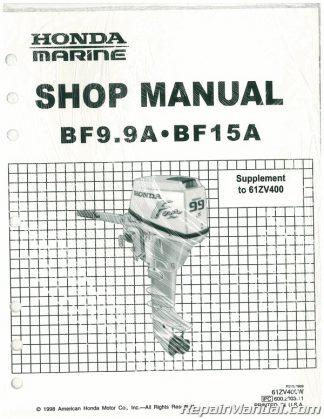 Honda BF9.9A BF15A Marine Marine Shop Manual