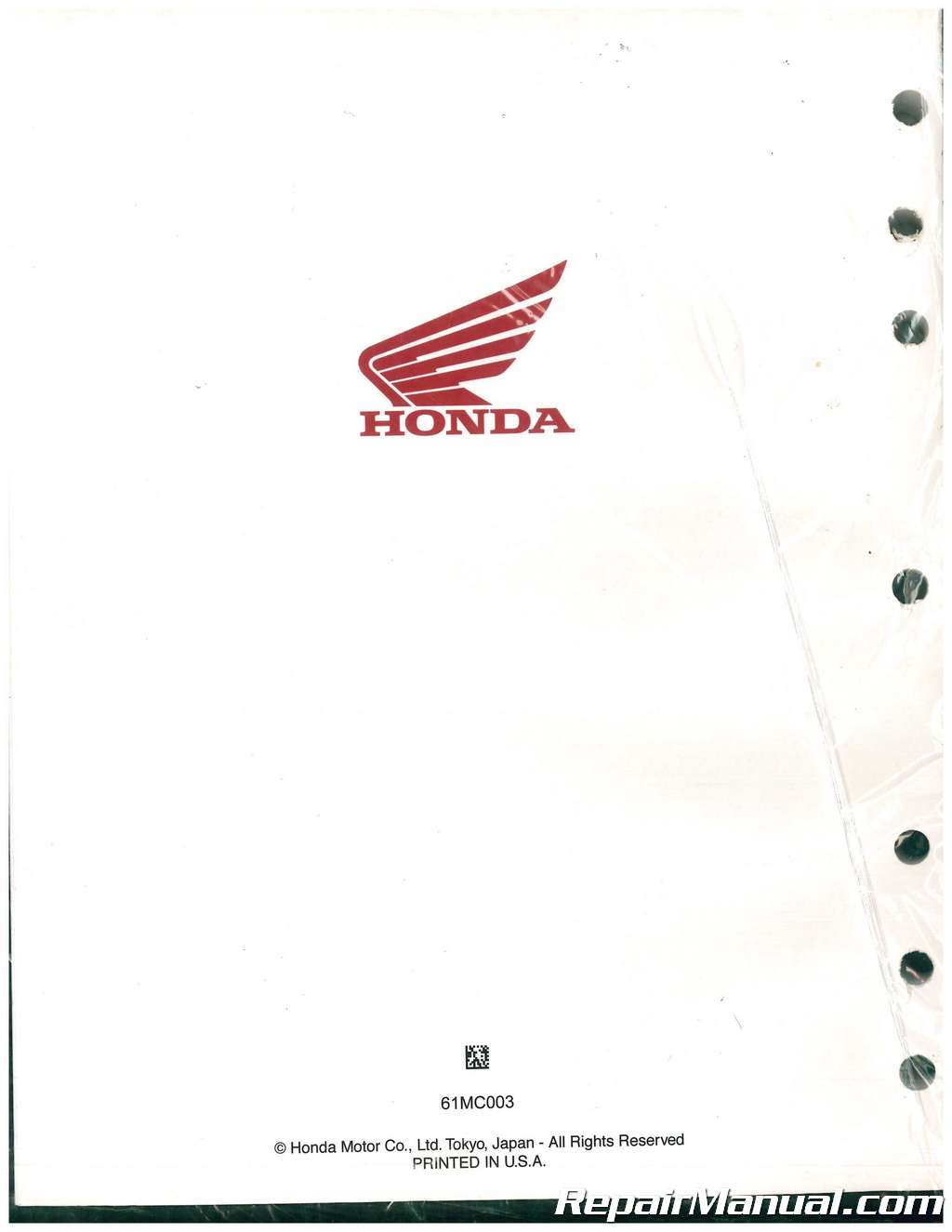 Honda Cb450 Cm450 Motorcycle Service Manual 61mc003