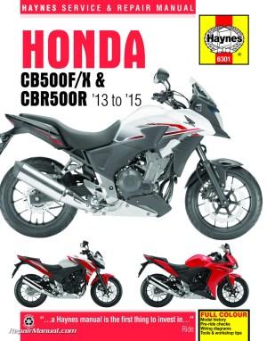 20132015 Honda CB500F, CB500X & CBR500R Haynes Motorcycle