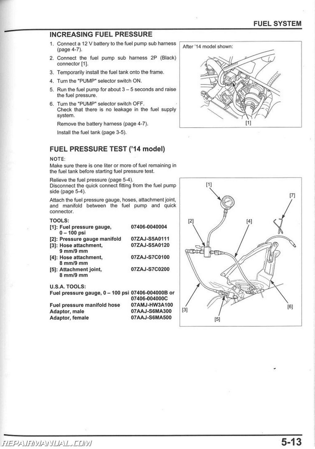 110cc Engine Wiring Diagram Electric Motorcycle 2014 Honda Crf250r Service Manual By Repairmanual Ebay
