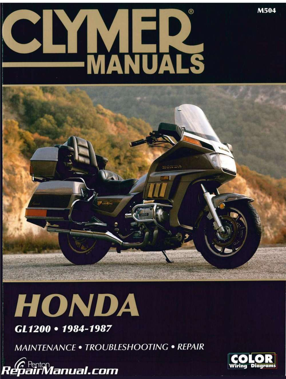 medium resolution of honda gl1200 gold wing motorcycle repair manual 1984 1987 clymer h00990155 as well gl1500 circuit likewise honda goldwing gl1200 wiring diagram