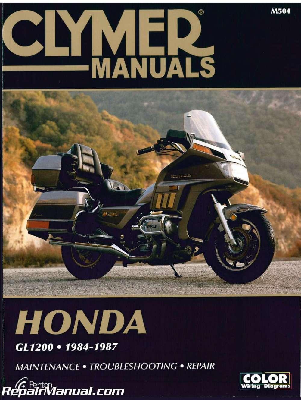 medium resolution of honda gl1200 gold wing motorcycle repair manual 1984 1987 clymer schematic honda goldwing motorcycle 1984 goldwing