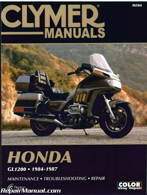 small resolution of honda gl1200 gold wing motorcycle repair manual 1984 1987 clymer h00990155 as well gl1500 circuit likewise honda goldwing gl1200 wiring diagram