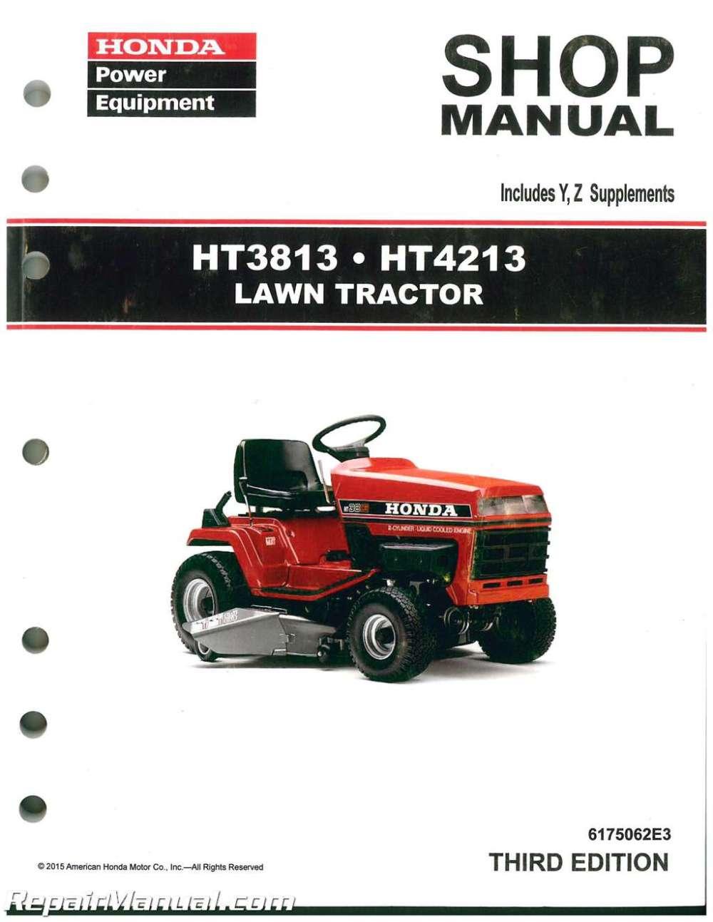 medium resolution of wire diagram honda 3813 wiring diagrams honda yard tractors honda ht3813 ht4213 lawn tractor shop manual