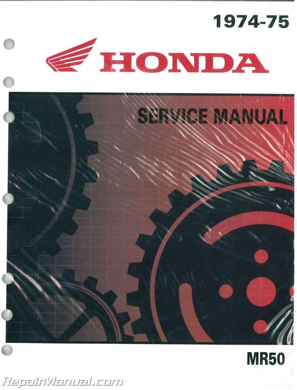 medium resolution of honda mr50 motorcycle service manual and parts manual 1974 1975
