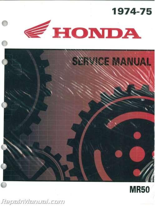 small resolution of honda mr50 motorcycle service manual and parts manual 1974 1975
