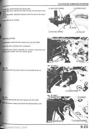 19861989 Honda TRX350 D Fourtrax Foreman ATV Repair Manual