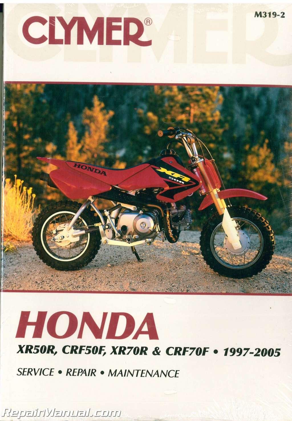 hight resolution of honda xr50r crf50f xr70r and crf70f 1997 2005