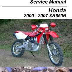 2002 Xr650r Wiring Diagram For Double Switch Honda Motorcycle Cyclepedia Printed Service Manual