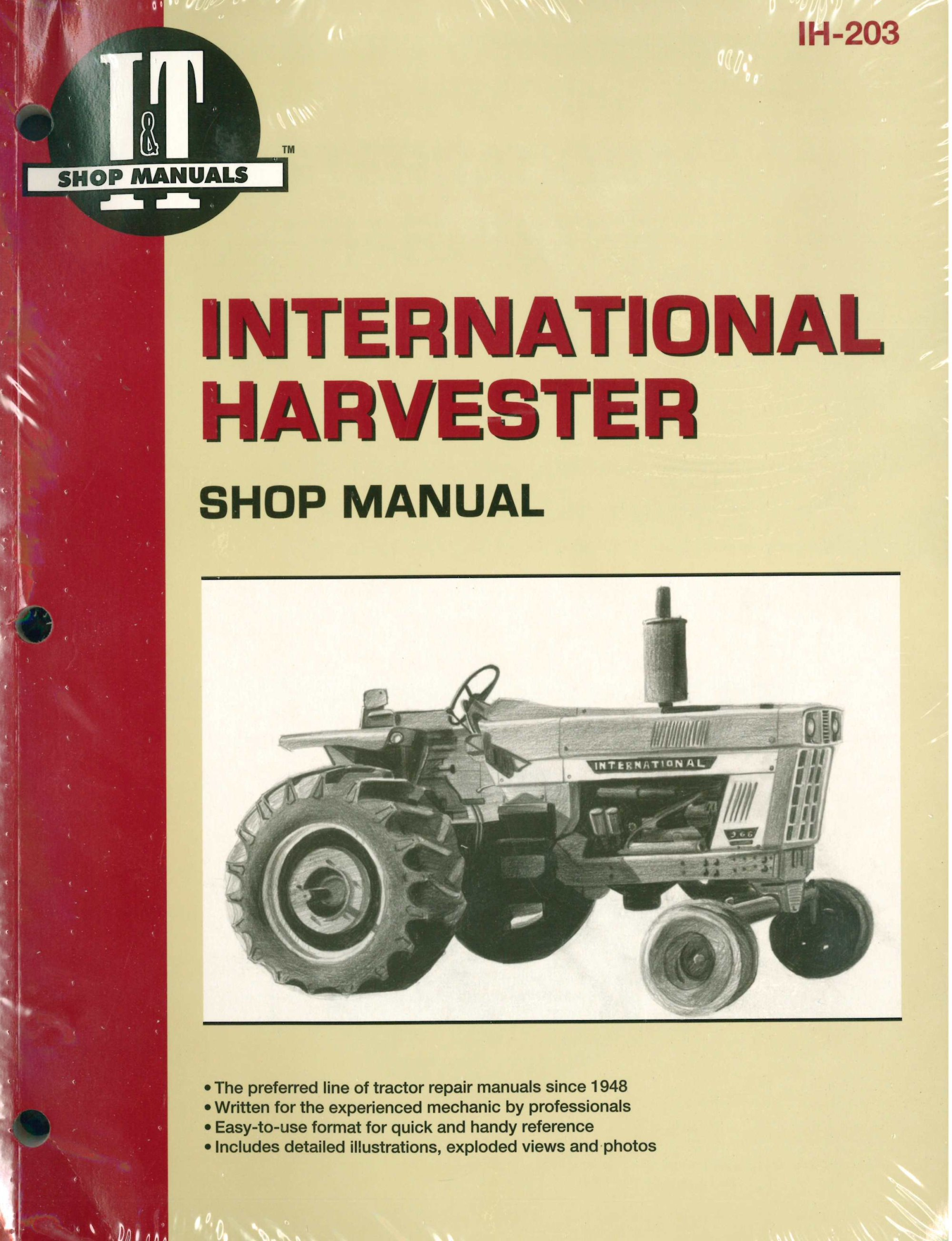 hight resolution of international harvester tractor service manual 454 464 484 574 584 farmall h wiring diagram for 12v ih 826 wiring diagram