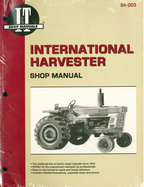 small resolution of international harvester tractor service manual 454 464 484 574 584international harvester tractor service manual