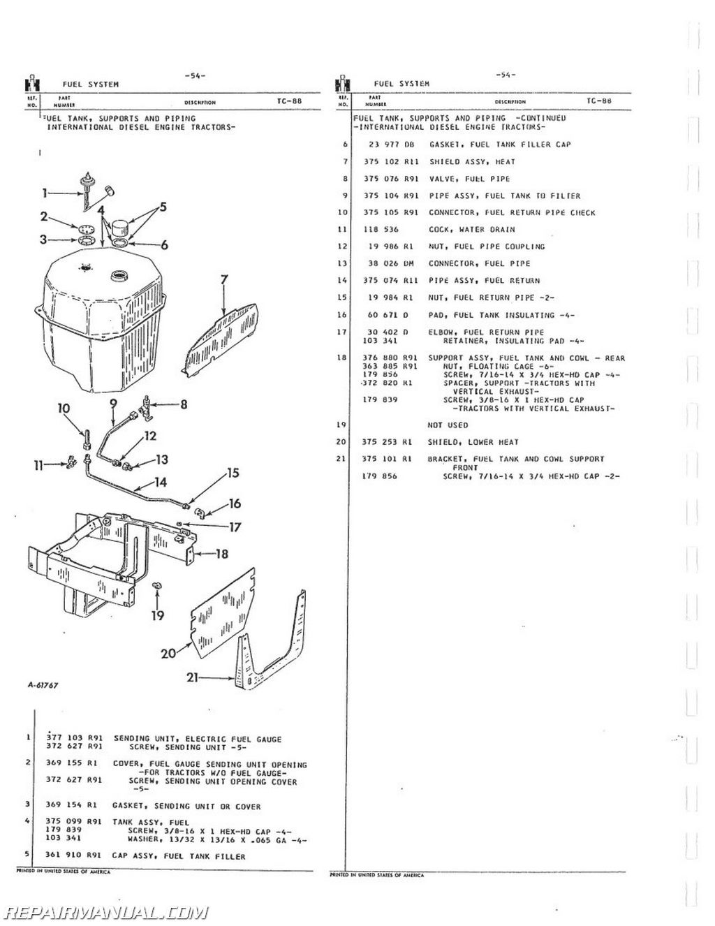 Easy Go Gas Golf Cart Wiring Diagram International Harvester 504 2504 Gas Lp And Dsl Parts Manual