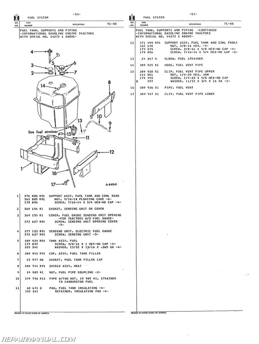 International 300 Utility Tractor Wiring Diagram International Harvester 504 2504 Gas Lp And Dsl Parts Manual