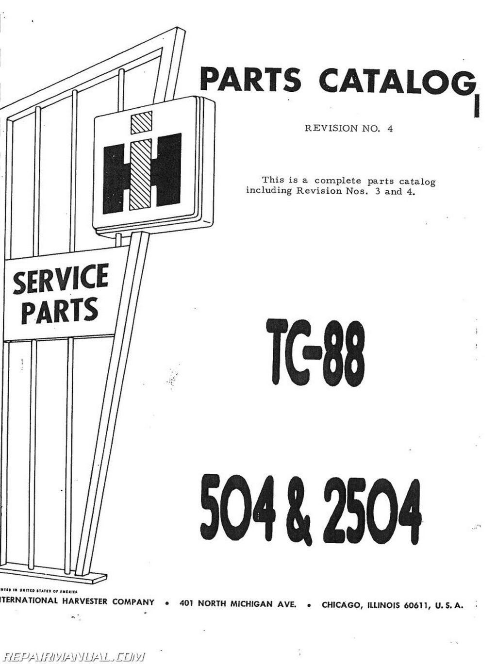 International Harvester 504 Gas Lp And Dsl Parts Manual