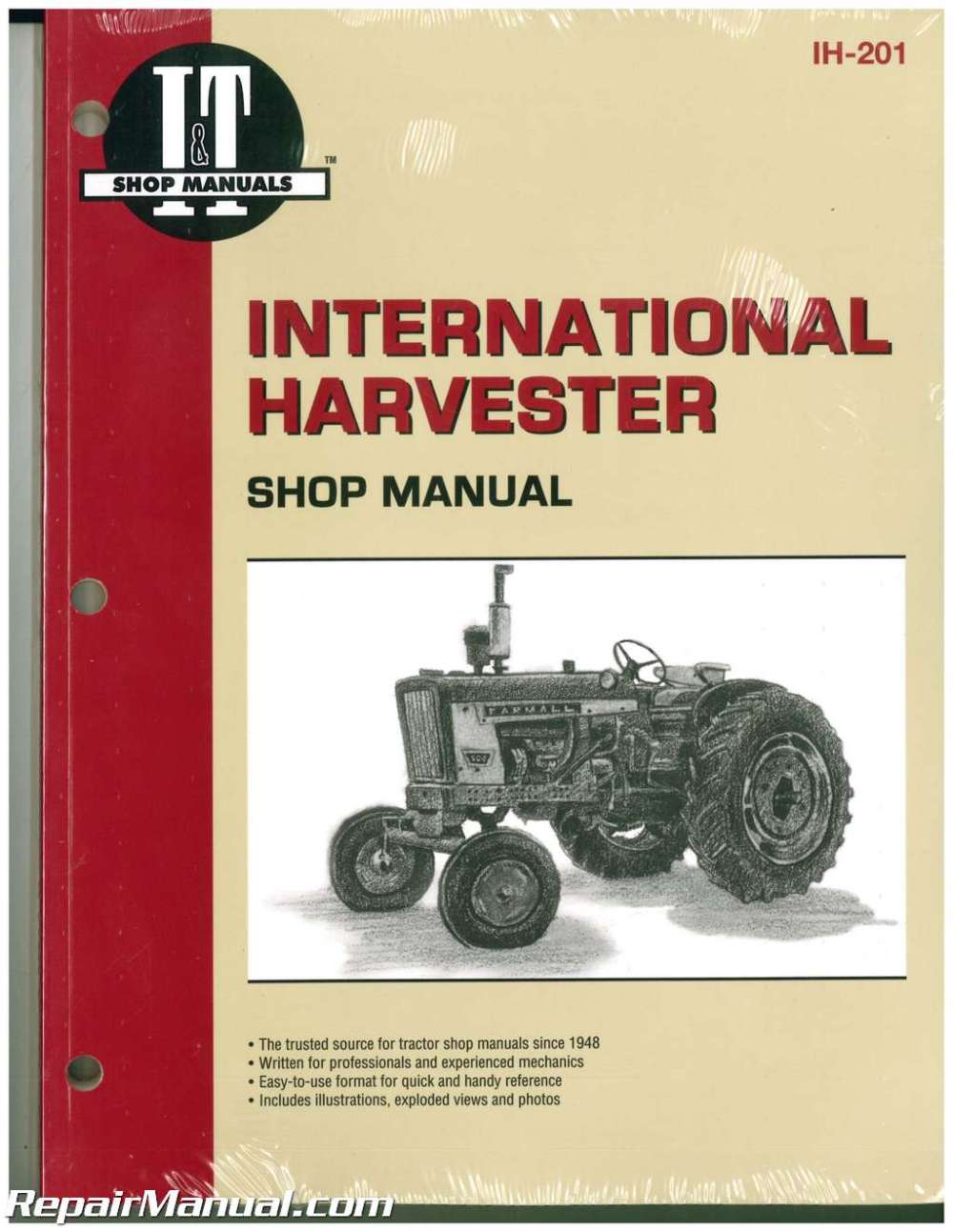 medium resolution of international harvester 100 2504 b 275 b 414 farm tractor service manual