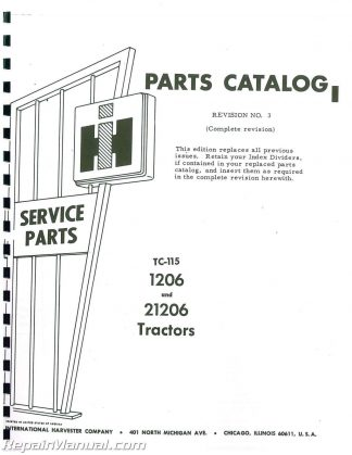 International Harvester 756 And 2756 Gas And Diesel