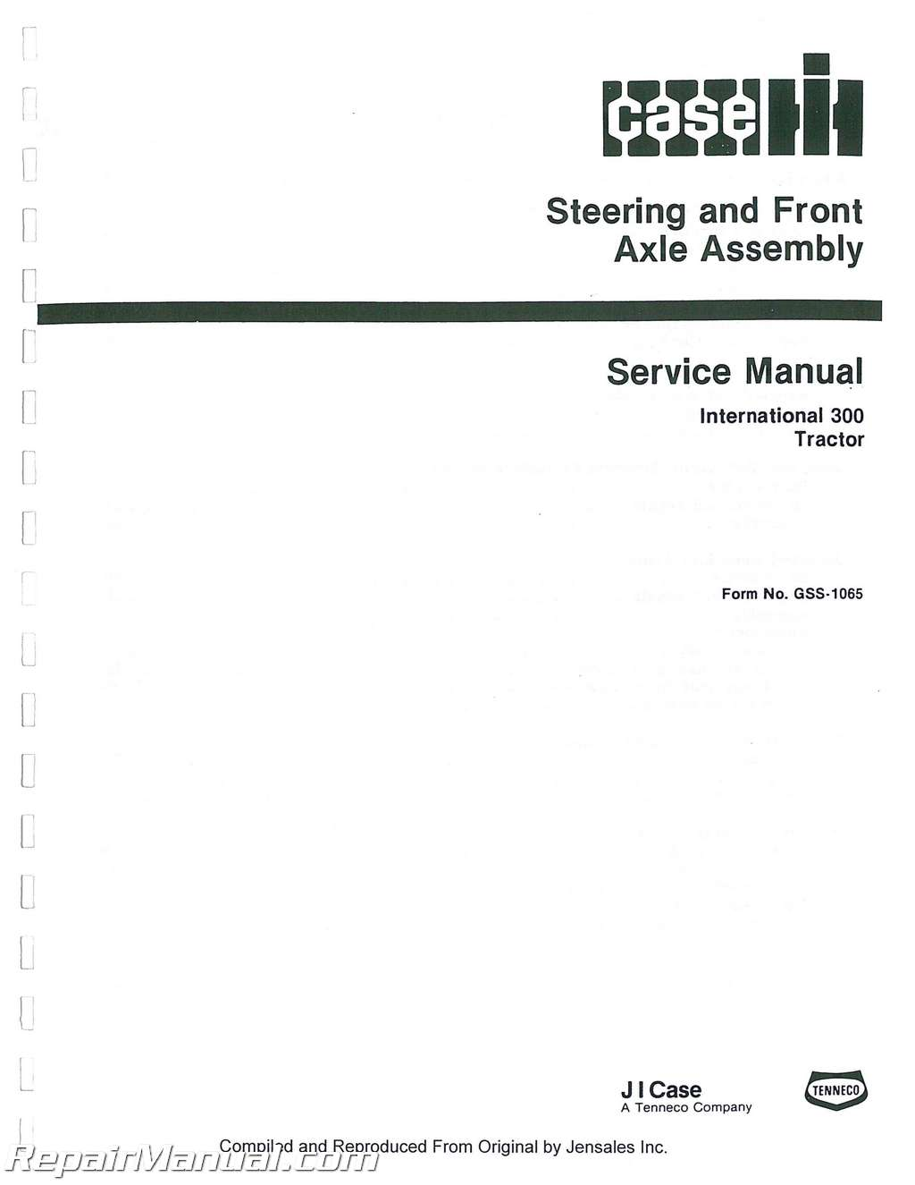 hight resolution of international harvester 300 utility 350 utility chassis only service manual