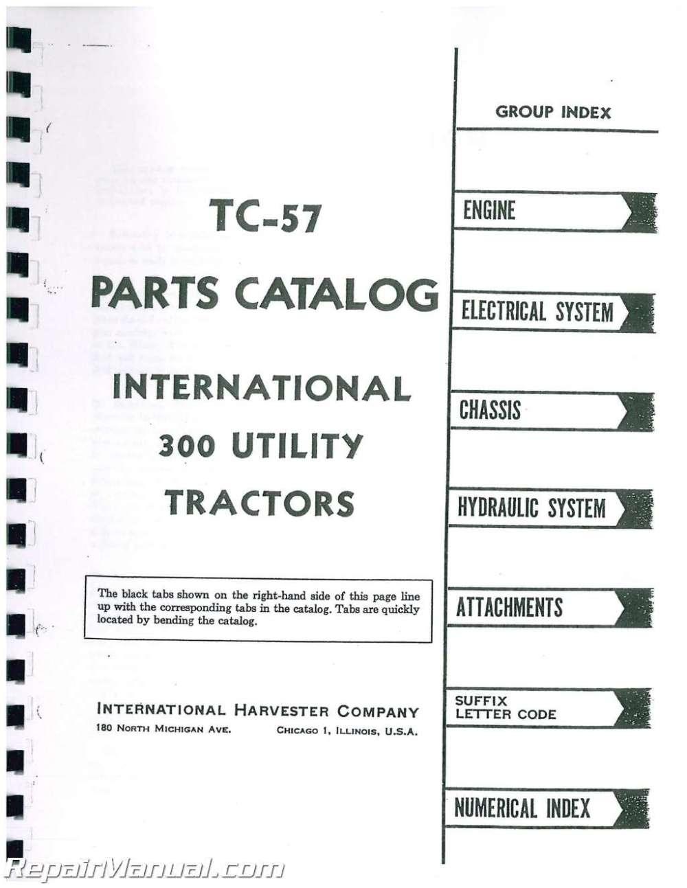 medium resolution of  farmall 300 utility tractor manual on farmall 140 parts diagram farmall h parts diagram