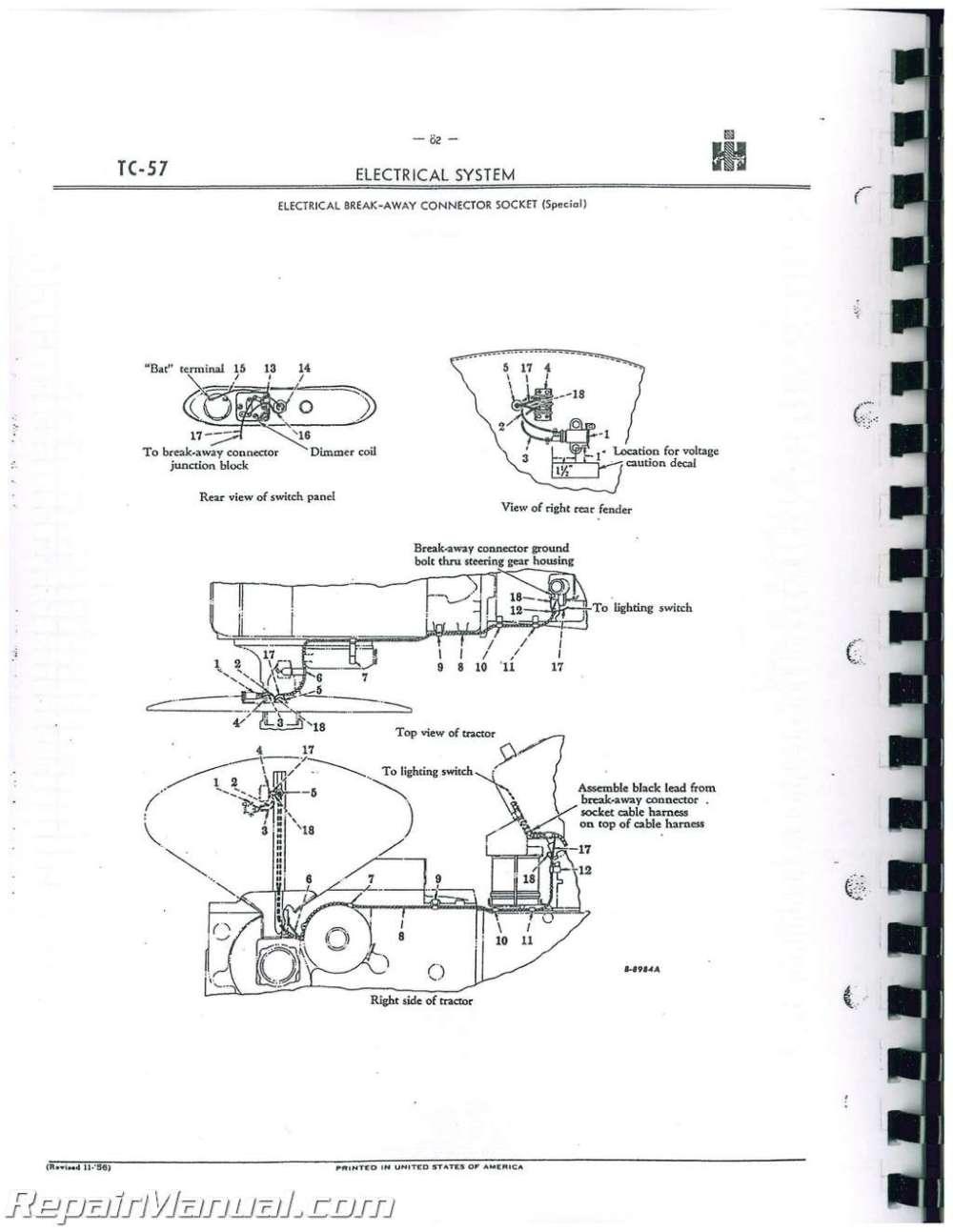 medium resolution of international harvester farmall manuals parts service 1086 international tractor wiring diagram farmall international tractor wiring diagram