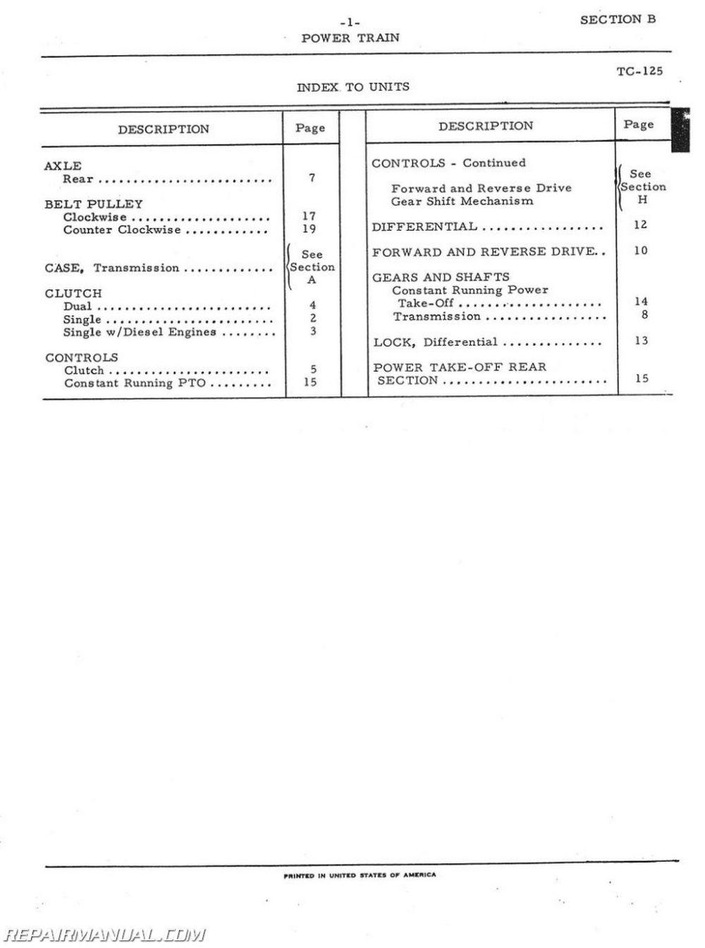medium resolution of international harvester 444 2444 gas and diesel parts manual rh repairmanual com farmall h wiring diagram