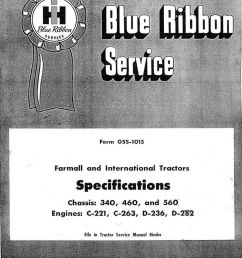 international harvester 340 460 560 tractor service manual  [ 1024 x 1368 Pixel ]