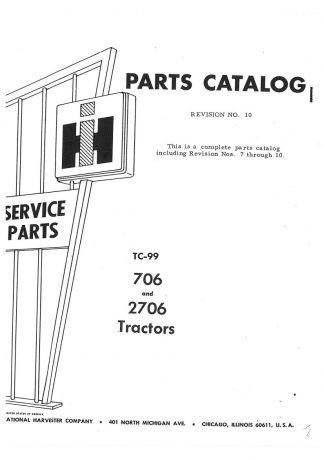International Harvester 706 And 2706 Gas And Diesel Parts