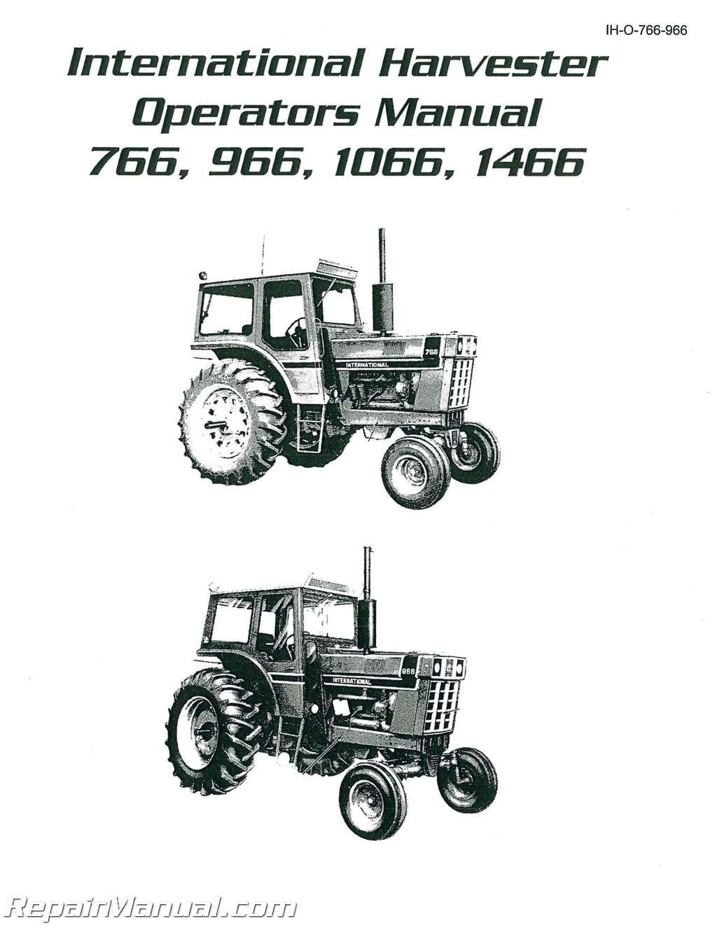 Ih 4200 Fuse Box Cover 22 Wiring Diagram Images Diagrams 2004 International 7681024 Harvester 766 966 1066 1466 Diesel Operators Manual 001resize