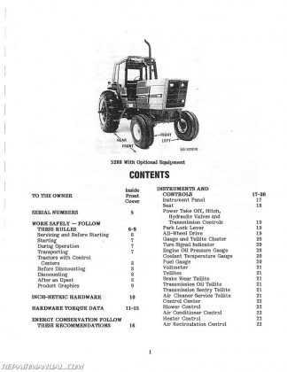 Allis-Chalmers 5040 6 Speed 9 Speed Trans Operators Manual