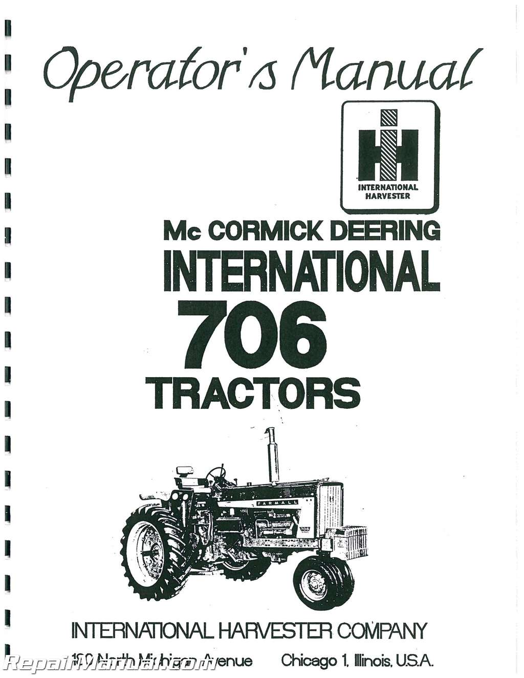 International Harvester Farmall 706 Gas And Diesel
