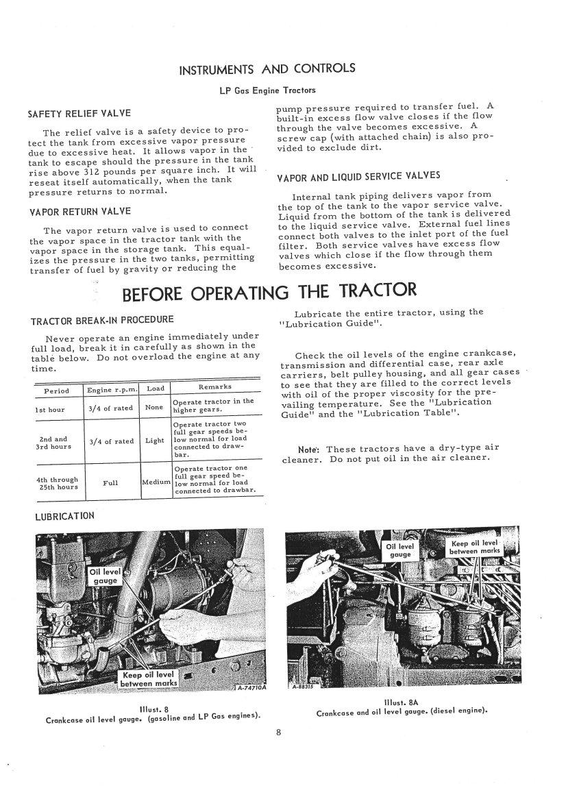 International 300 Utility Tractor Wiring Diagram International Harvester Farmall 806 Tractor Operators Manual