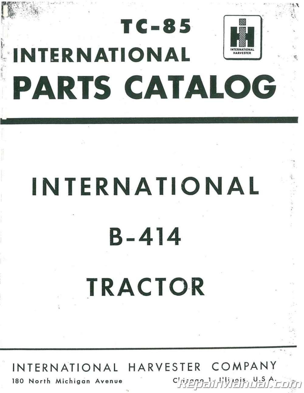 medium resolution of international harvester farmall b 414 parts manual farmall b parts diagram
