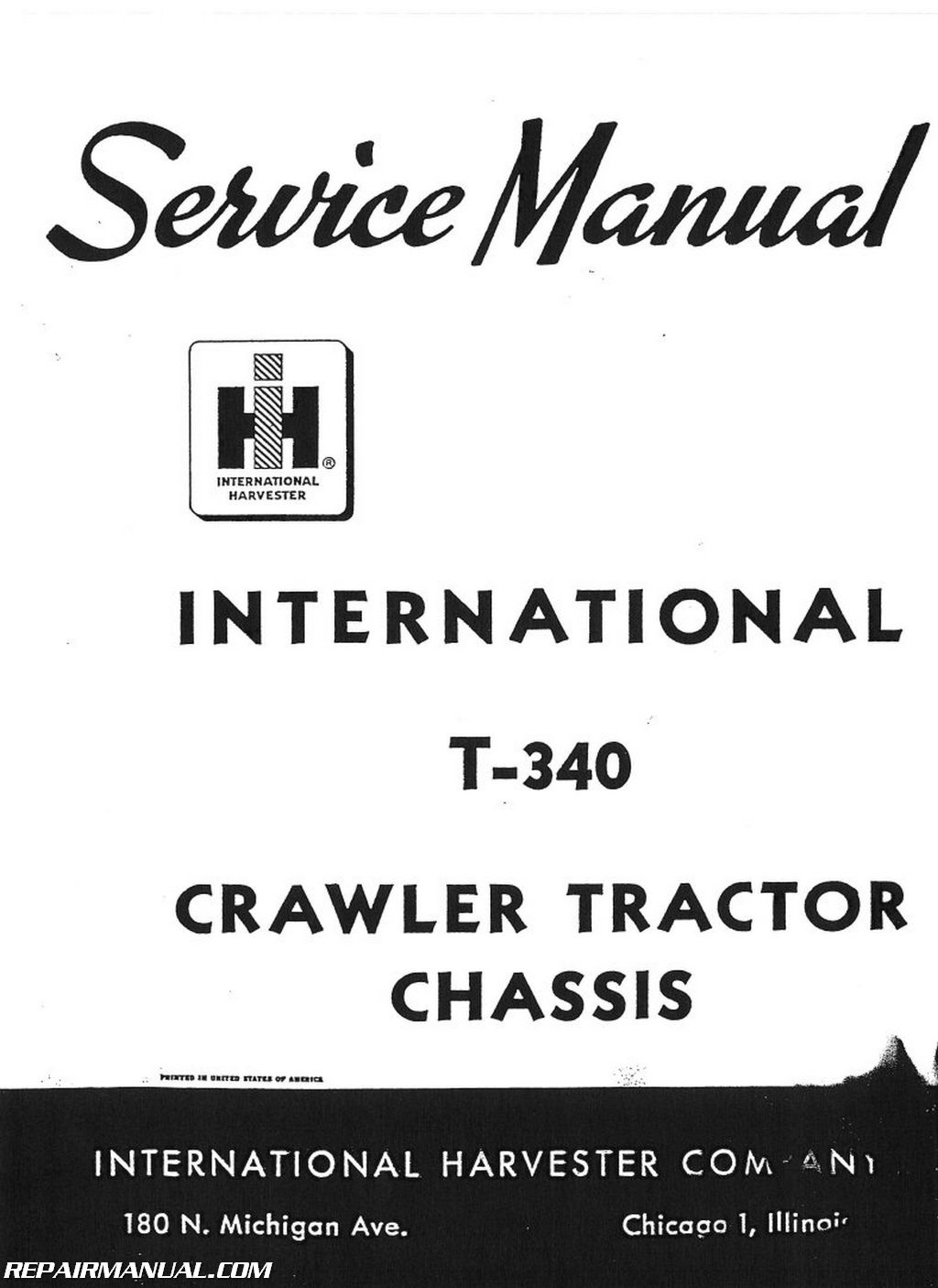 International Harvester T-340 Service Manual