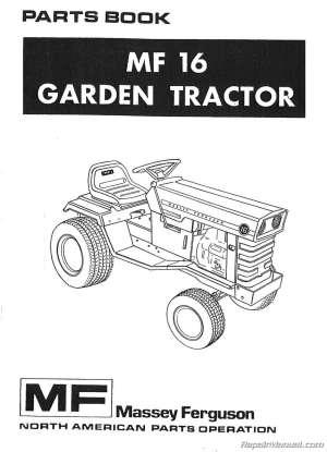 MasseyFerguson MF16 Garden Tractor Parts Manual